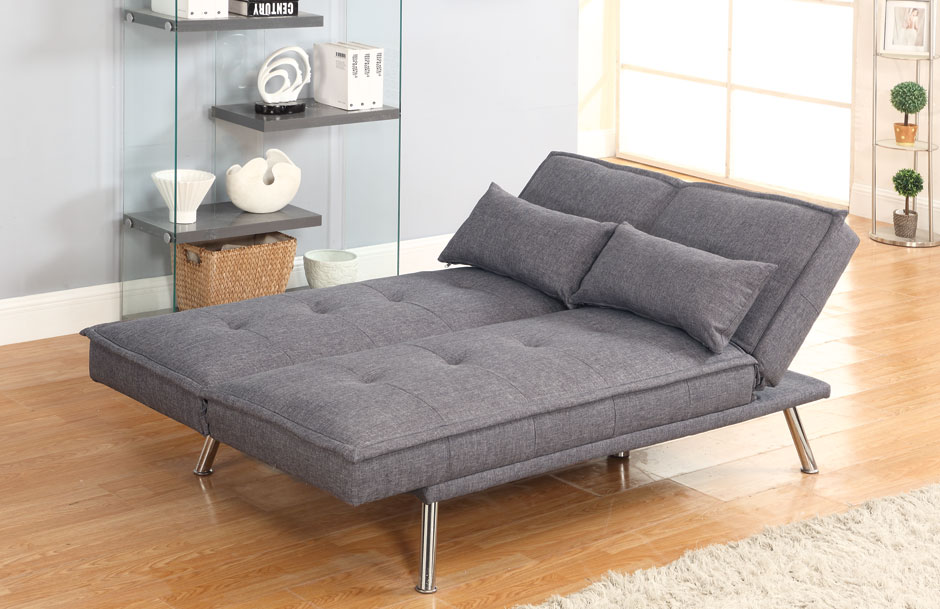 Iowa Elegant Chrome Leg Sofa Bed Sweetdreams Bed Company