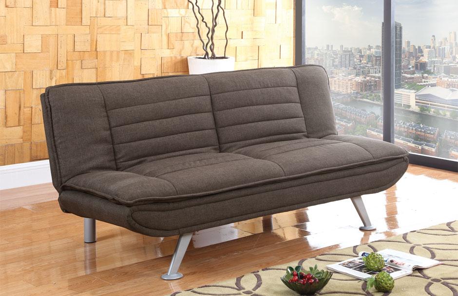 Texas Elegant Chrome Leg Sofa Bed